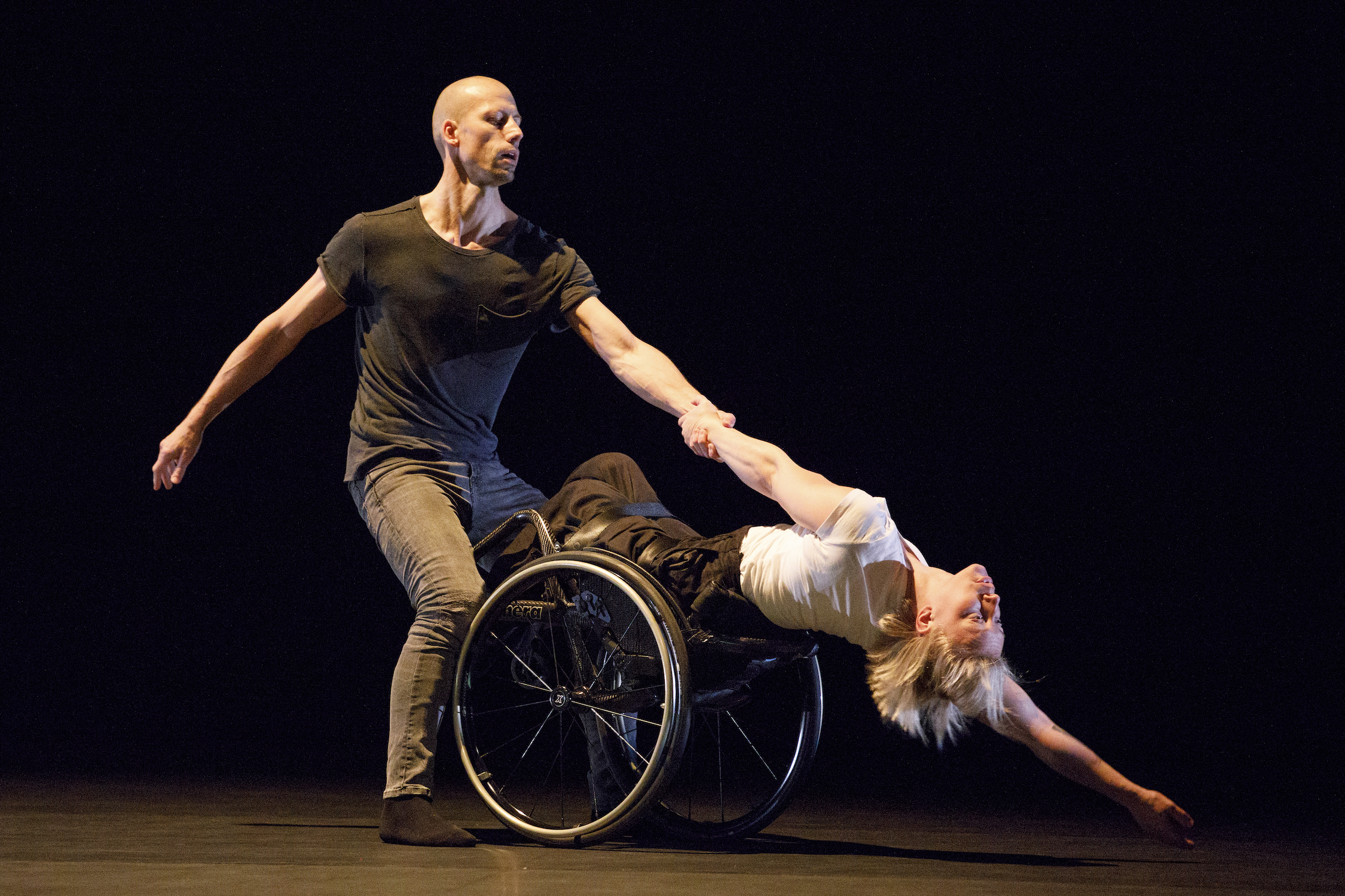 Photo credit: Bruce Zinger from Skanes Dansteater (performers Peder Nilsson and Madeleine Mansson).