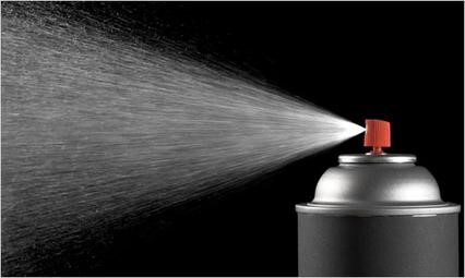 Aerosol is a mixture of liquid particles suspended in a gas and can contain many chemicals. Aerosols can leave tiny droplets behind in the lungs.
