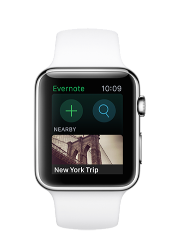 Apple Watch Evernote App