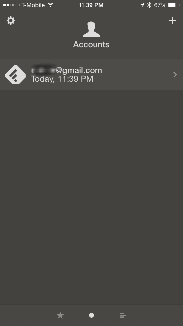 Screenshot at the time I will stop checking Reeder for a five days. Zero unread articles.