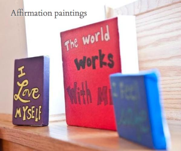 Affirmation paintings by Laura Baran