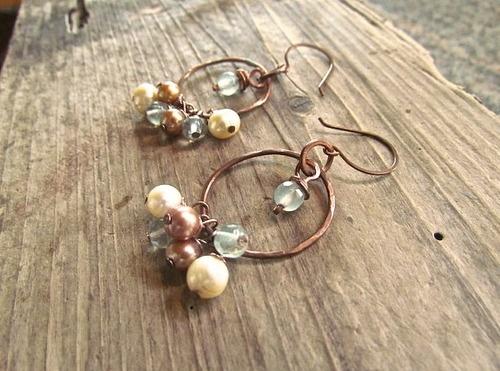 Handmade Bohemian Jewelry, Handmade Boho Earrings, Handmade Boho Jewelry