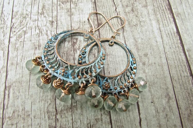 Handmade Boho Jewelry, Handmade Bohemian Earrings
