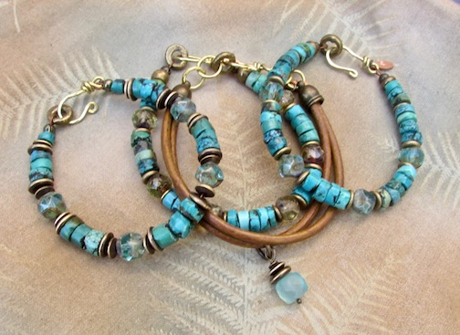 Making stacking bracelets for my next event in Los Gatos