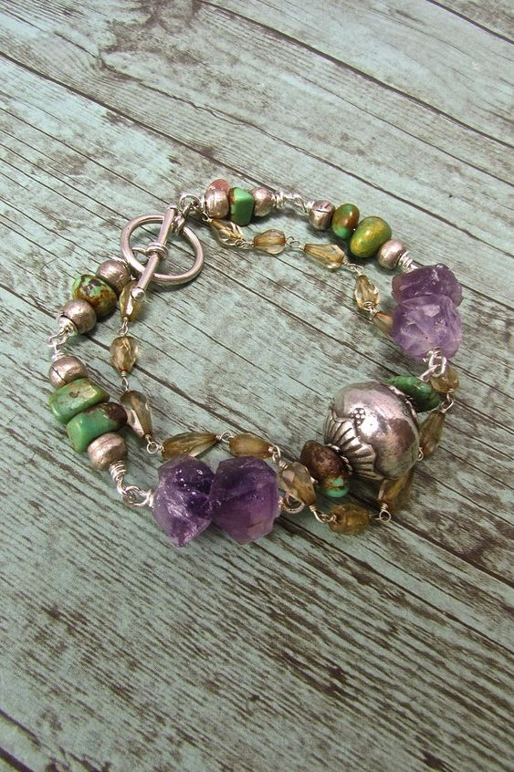 BohoStyle Jewelry, amethyst bracelet