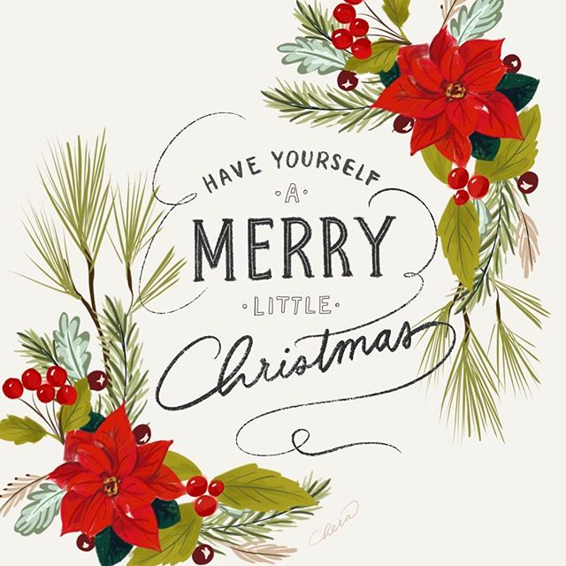 Have yourself a merry little Christmas! 🎄❤️ #merrychristmas #christmas #christmasgraphic