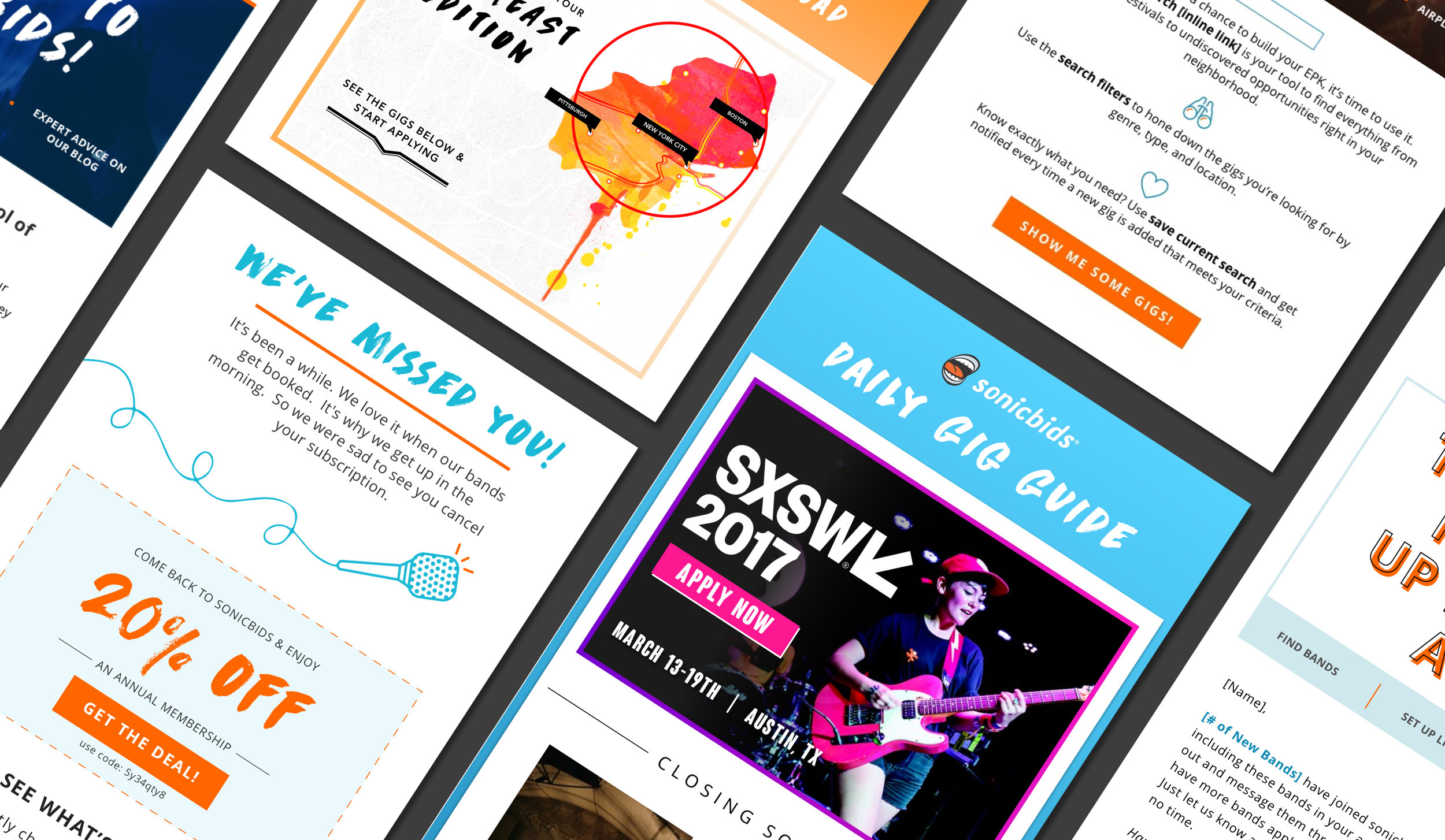 SONICBIDS EMAIL SERIES