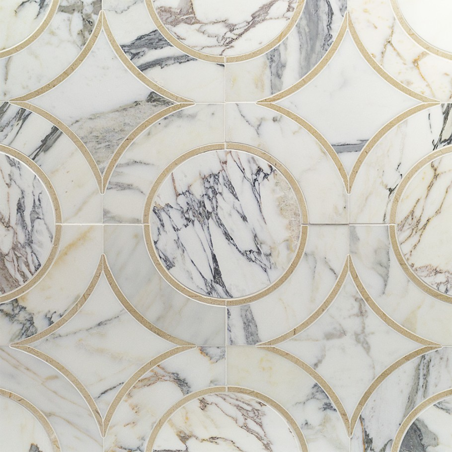 Highland Alpenglow Deux Marble Tile from TileBar