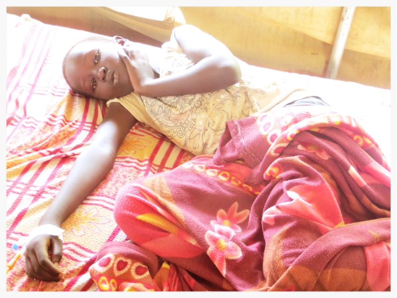 This young girl was a malaria patient that was treated last week at our clinic.