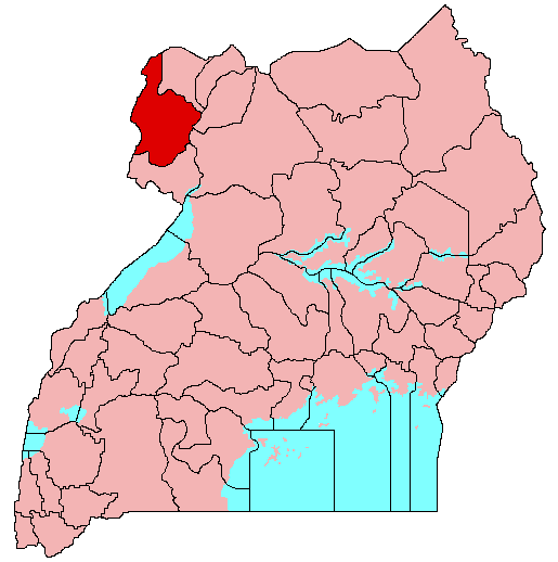 Arua District - Borders South Sudan