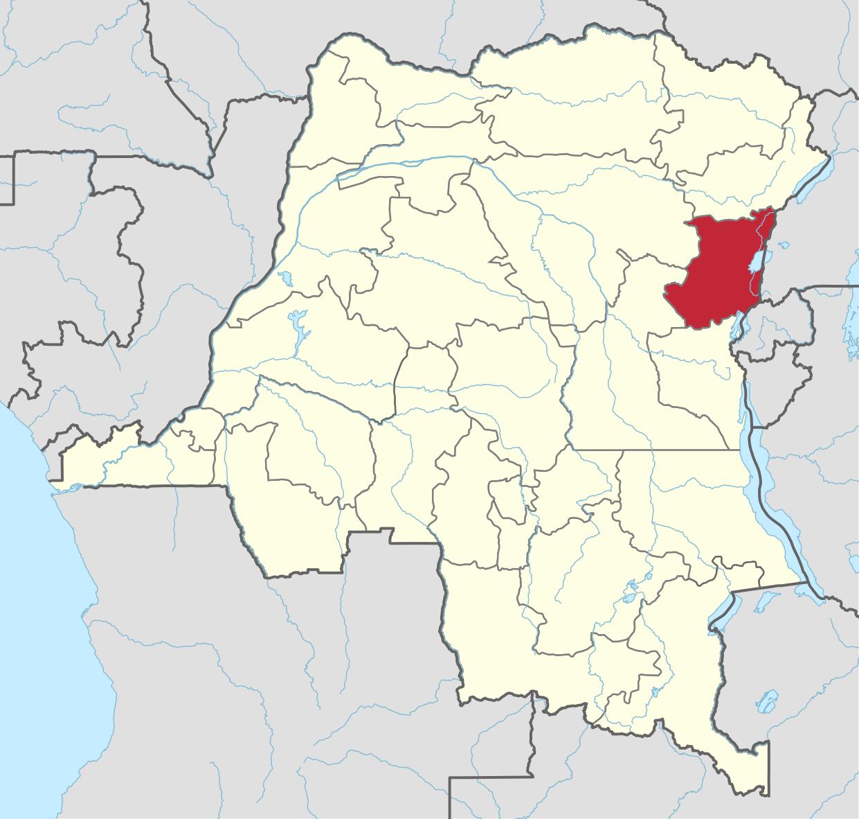 North Kivu District - Borders Uganda & Rwanda