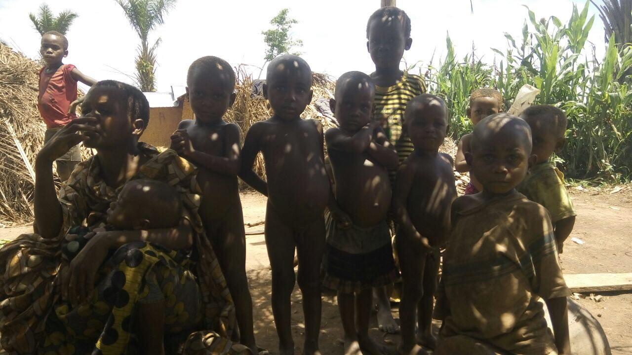 Pymgy children near the Global Refuge Oicha clinic in DR Congo