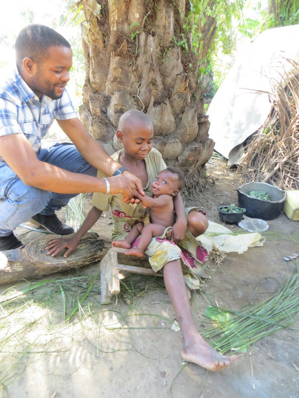 GRI staff doctor, Philippe, on a recent outreach to the pygmies near Oicha
