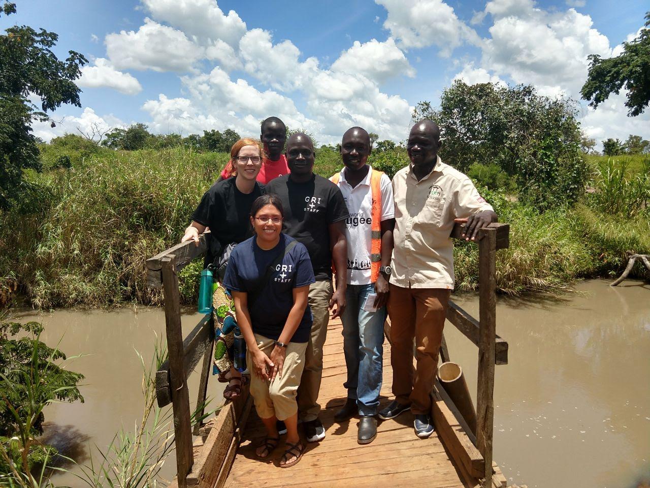 The bridge separating South Sudan and Uganda where refugees cross.