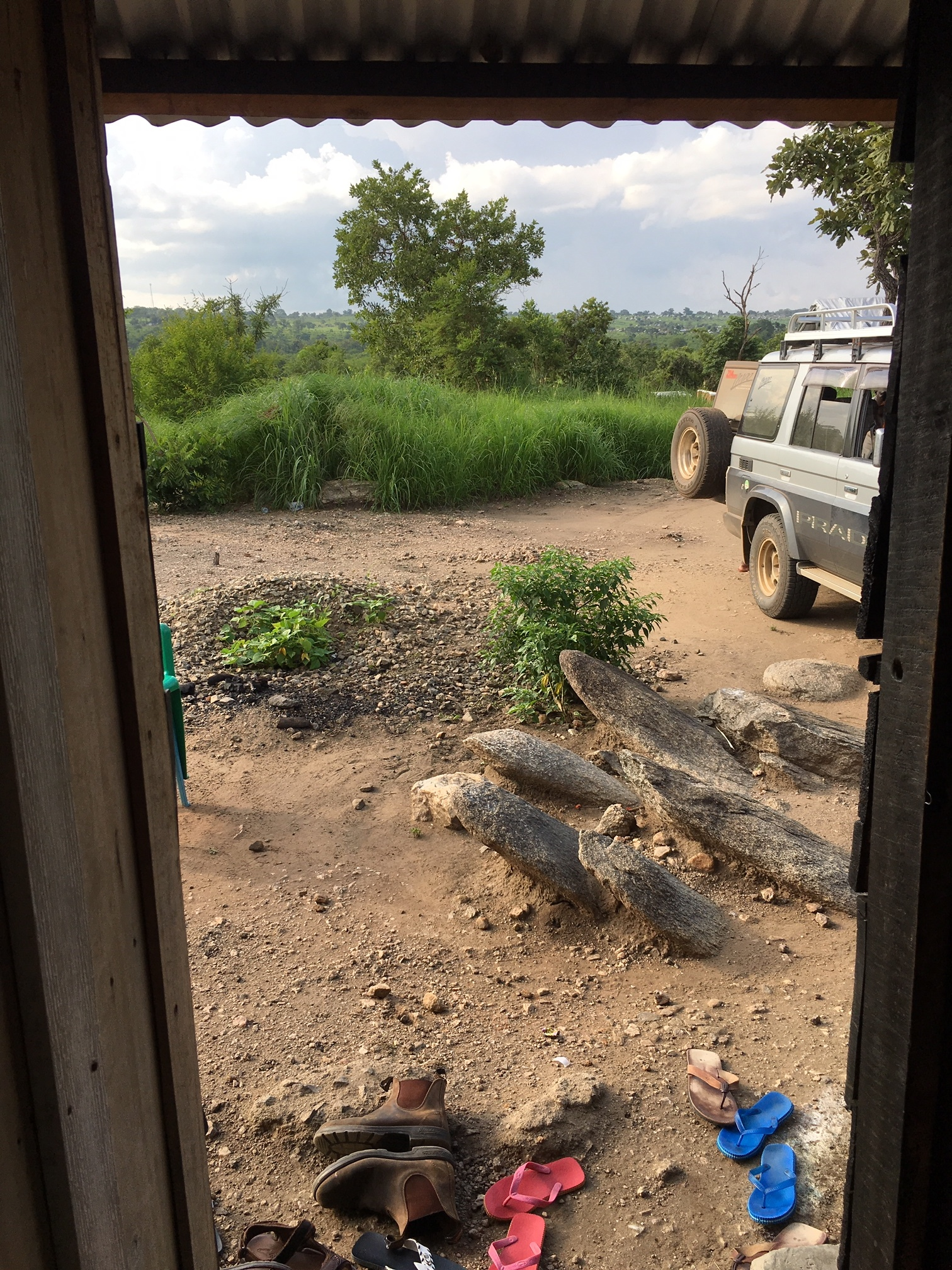 View from the staff quarters at the imvepi health center
