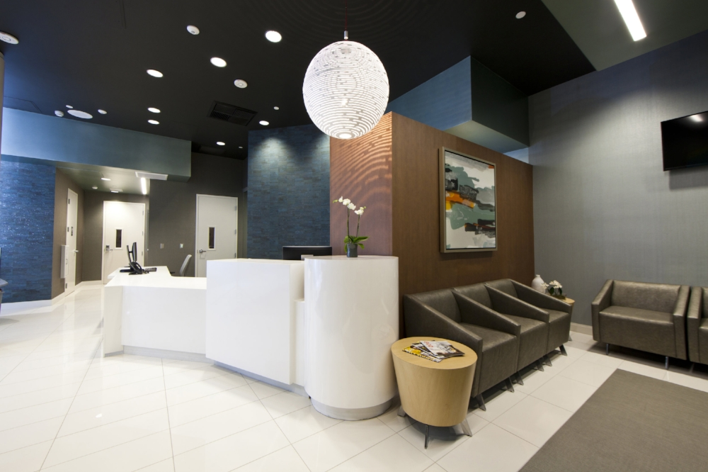 Reception and waiting room areas