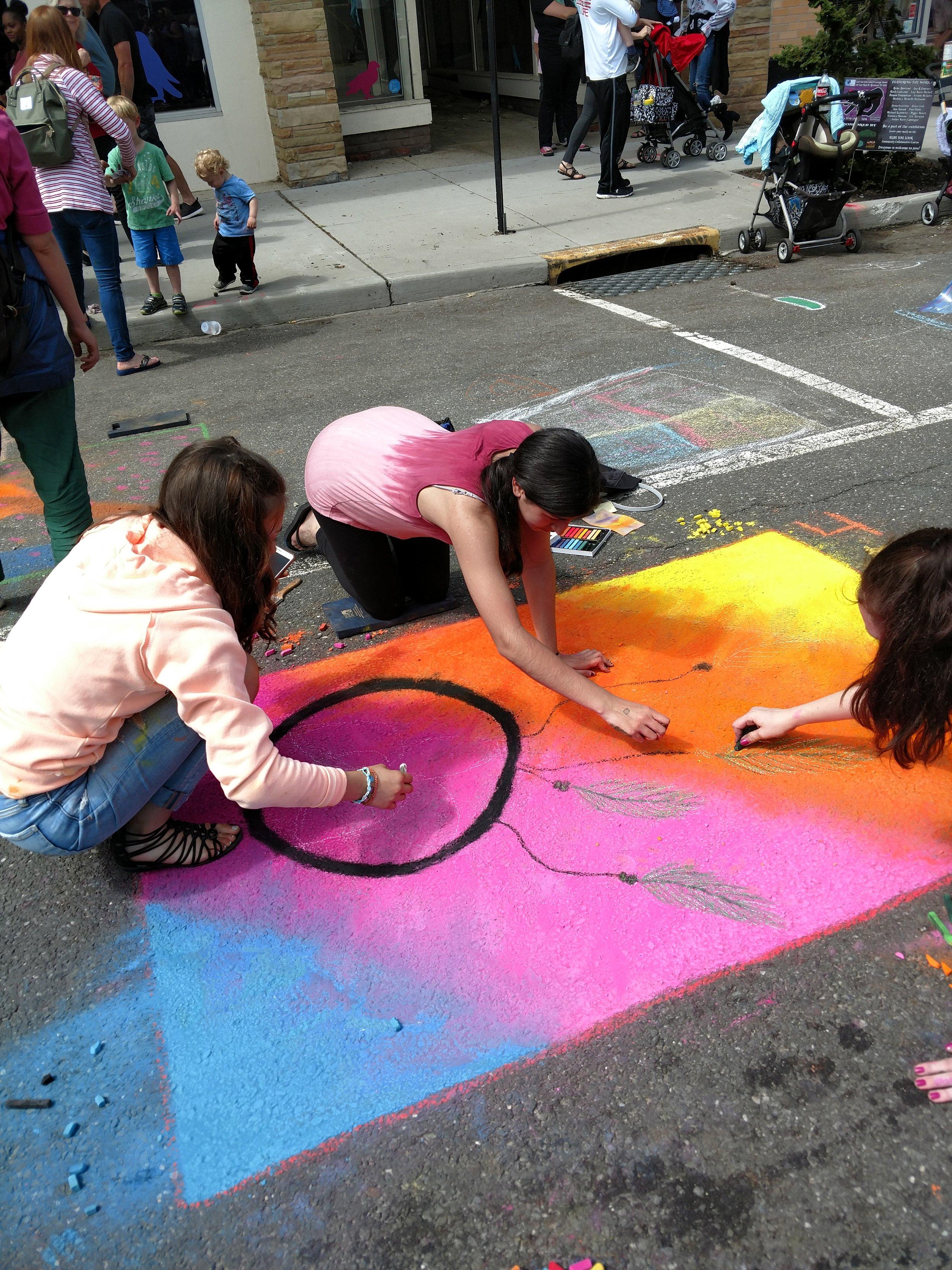 Dream Catcher Chalk Art