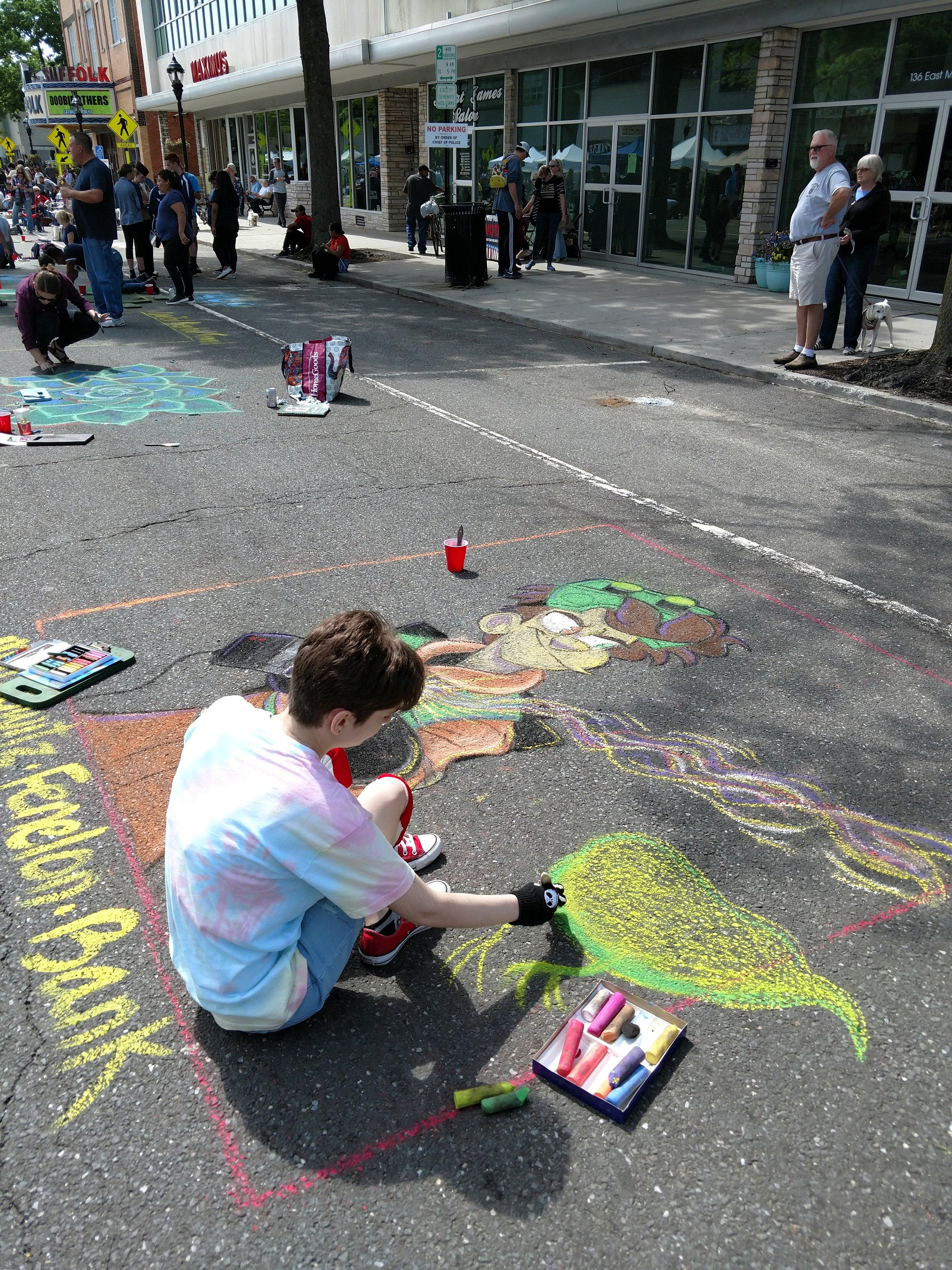 Ghostbusters Chalk Art