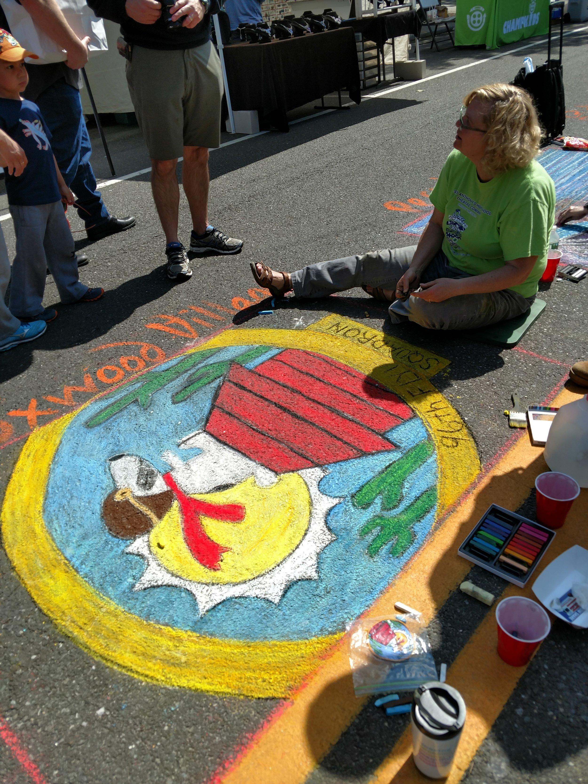 Snoopy Chalk Art