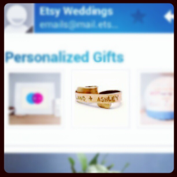 Etsy Weddings - Totally Gifted // December 2012