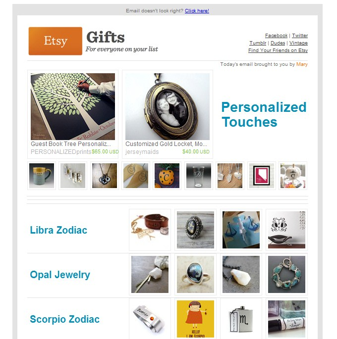 Etsy Gifts - Personalized for You // October 2011