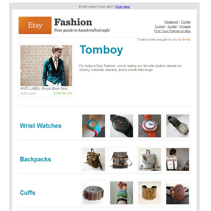 Etsy Fashion - Tomboy // July 2011