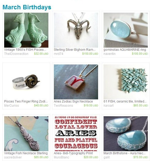 Etsy Finds - In Like a Lion // March 2011