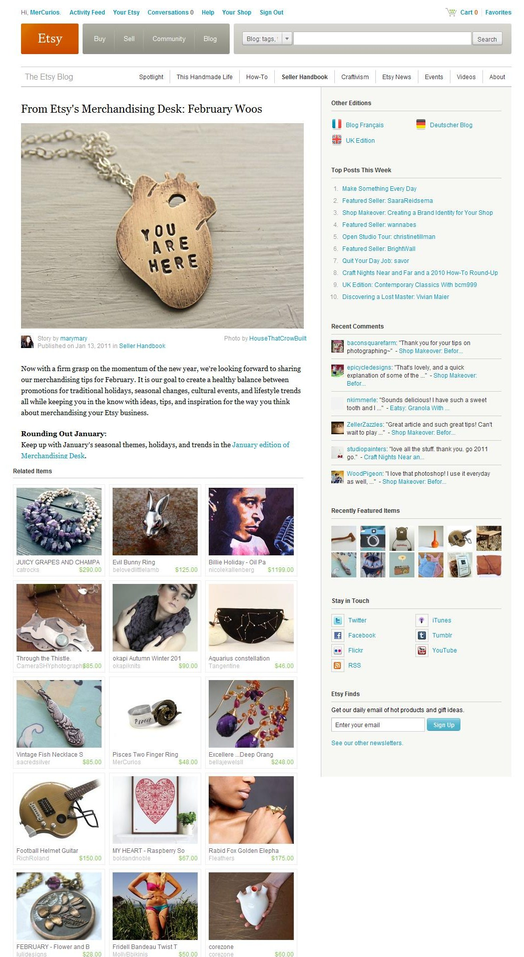 From Etsy's Merchandising Desk - February Woos // January 2011