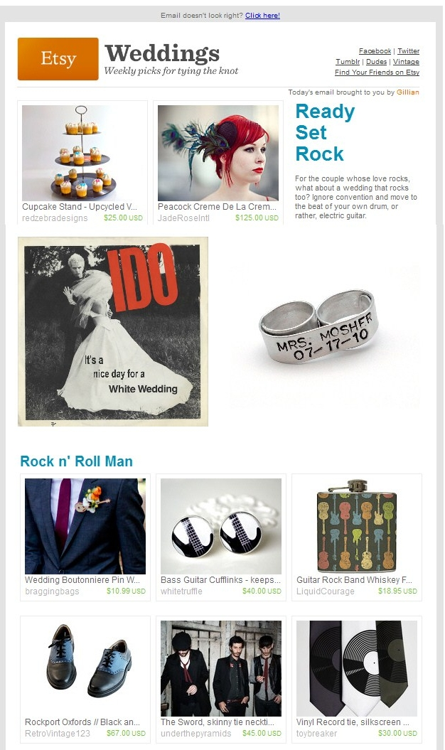 Etsy Weddings: Rock On