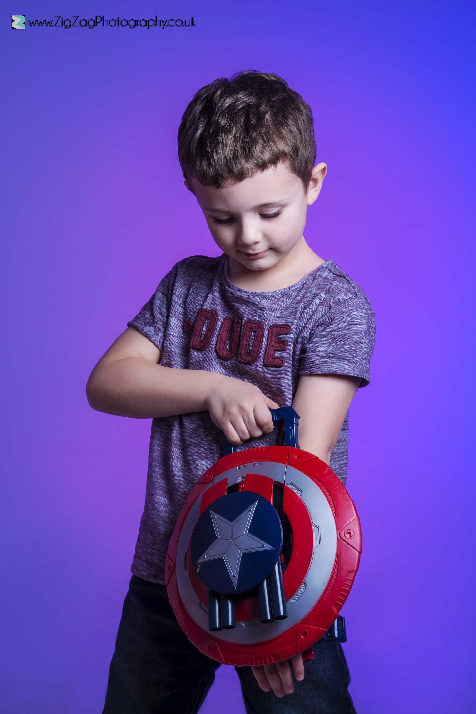 photography-studio-leicester-photoshoot-superhero-boy-captain-america-purple-ideas-props-costume-dress-up.jpg