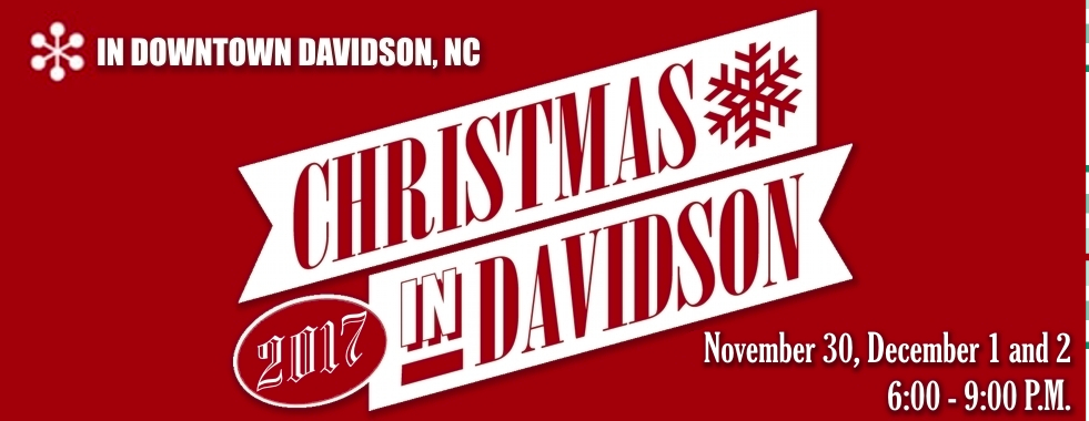 An annual holiday tradition since 1988, Christmas in Davidson kicks off the holiday season offering three magical nights of holiday family fun. Each night,Main Street Books will offer complimentary warm drinks and treats to anyone who wishes to defrost while browsing and meeting local authors.