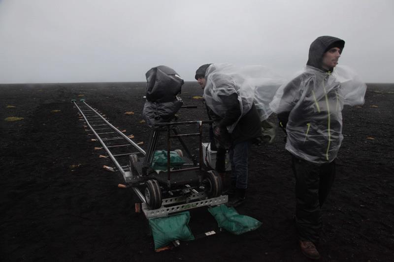 Film crew in the Icelandic nowhere