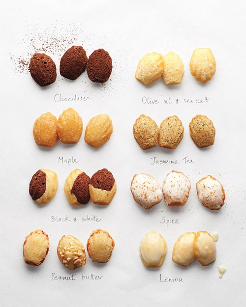 This photo makes me want to bake one of these Madeleine recipes from   Martha Stewart  .