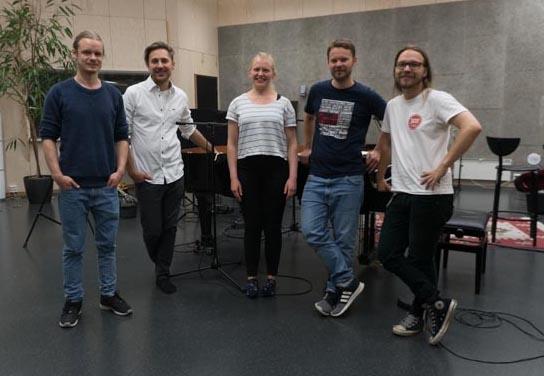 f.v: Eirik Fjelde, Jakop Janssønn, Eline Åsbakk, Odd Steinar Albrigtsen, Christo Stangness