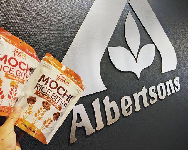 Showing #SunTropics #MochiRiceBites to #Albertsons Idaho division!