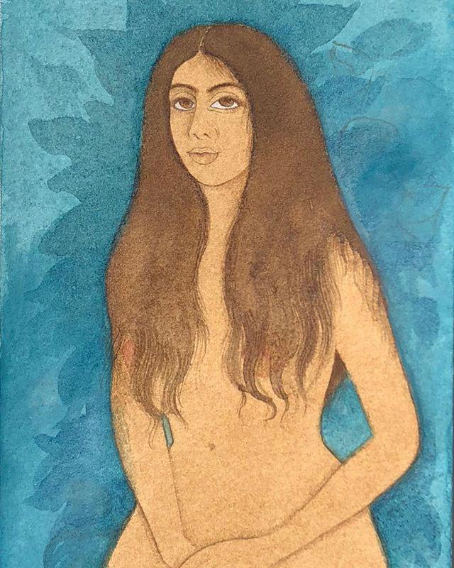 Found painting 🌷  #paintings #watercolor #ink #paper #sketchbook