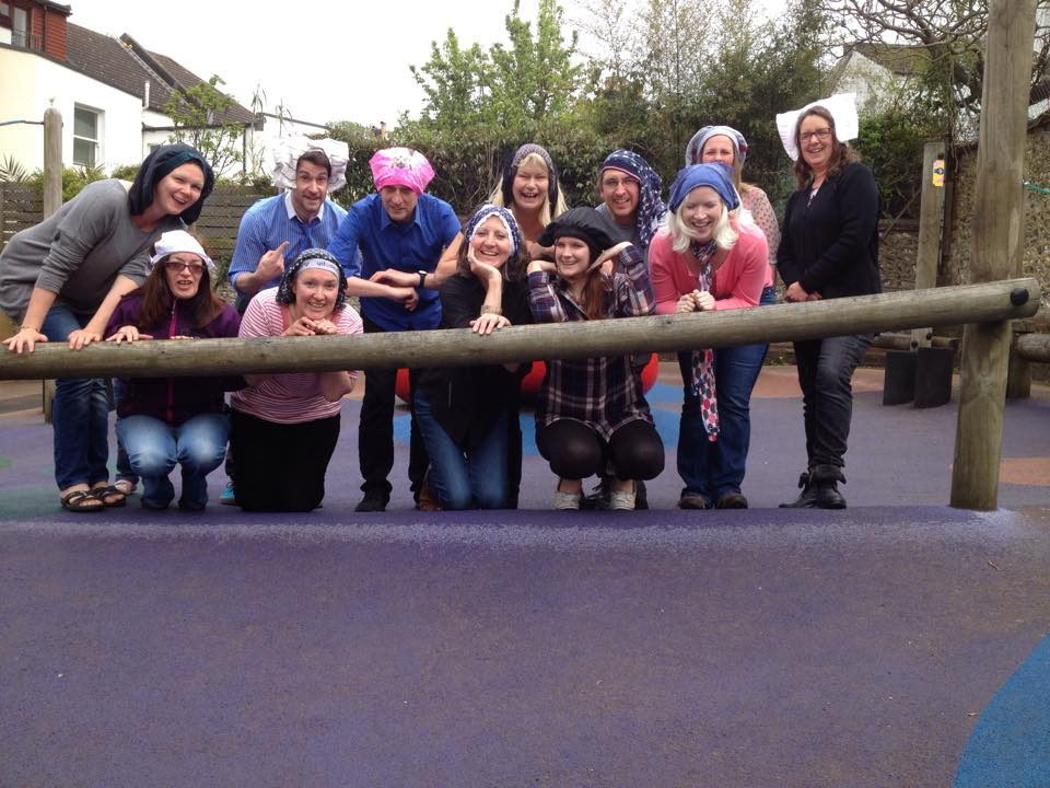 Staff at Standford juniors hold a Cancer is pants fundraising day and raise £550!