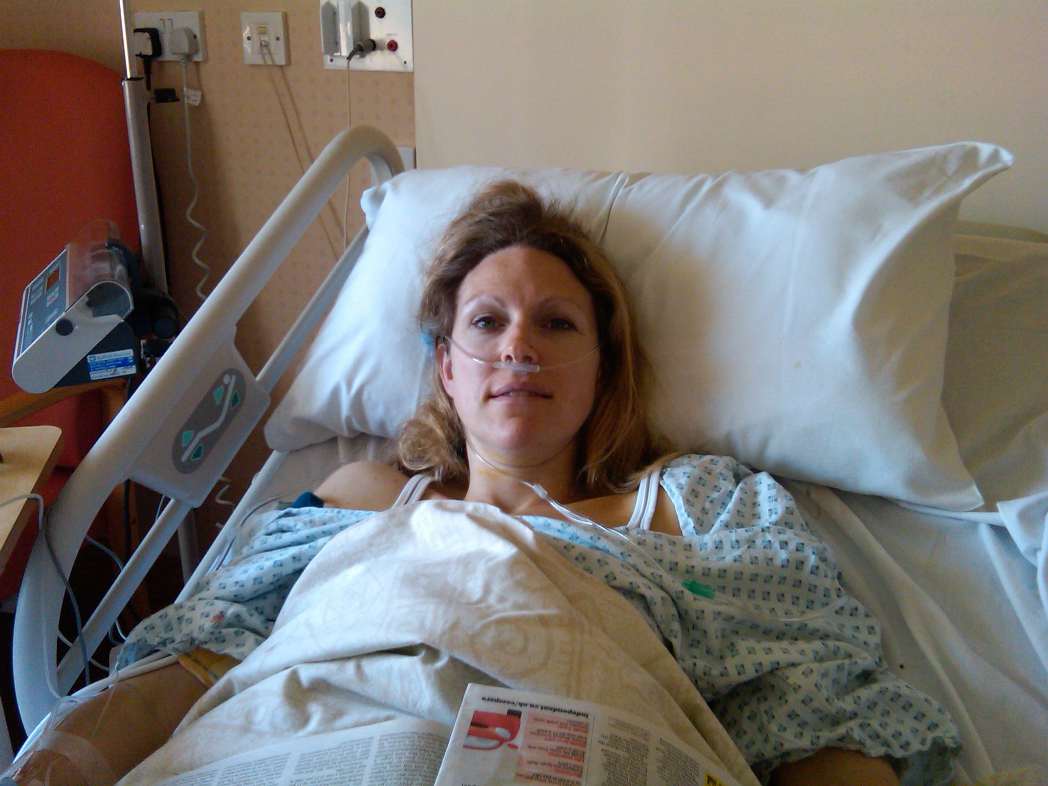 After my first surgery to remove the tumour