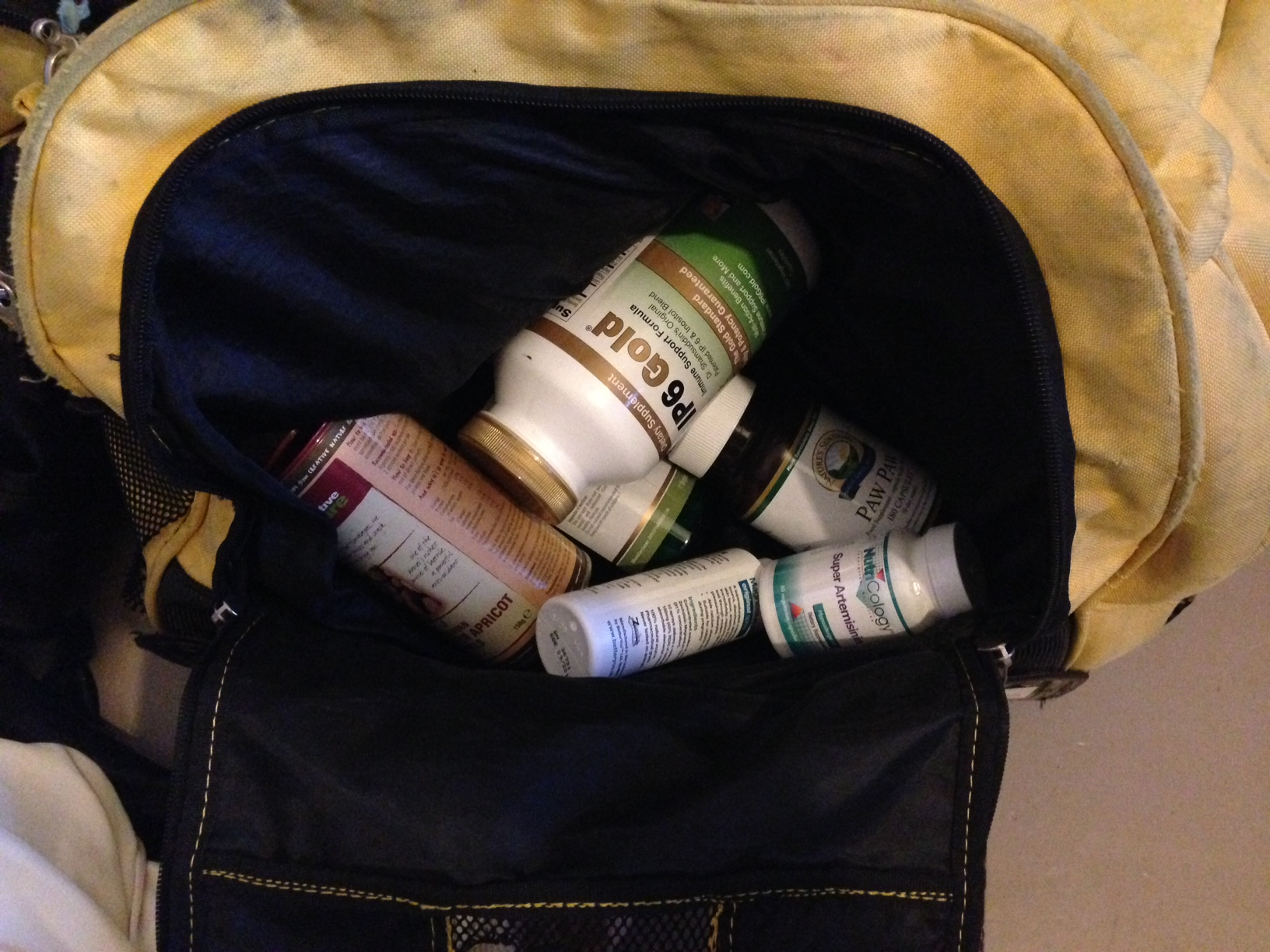 Packing my supplements