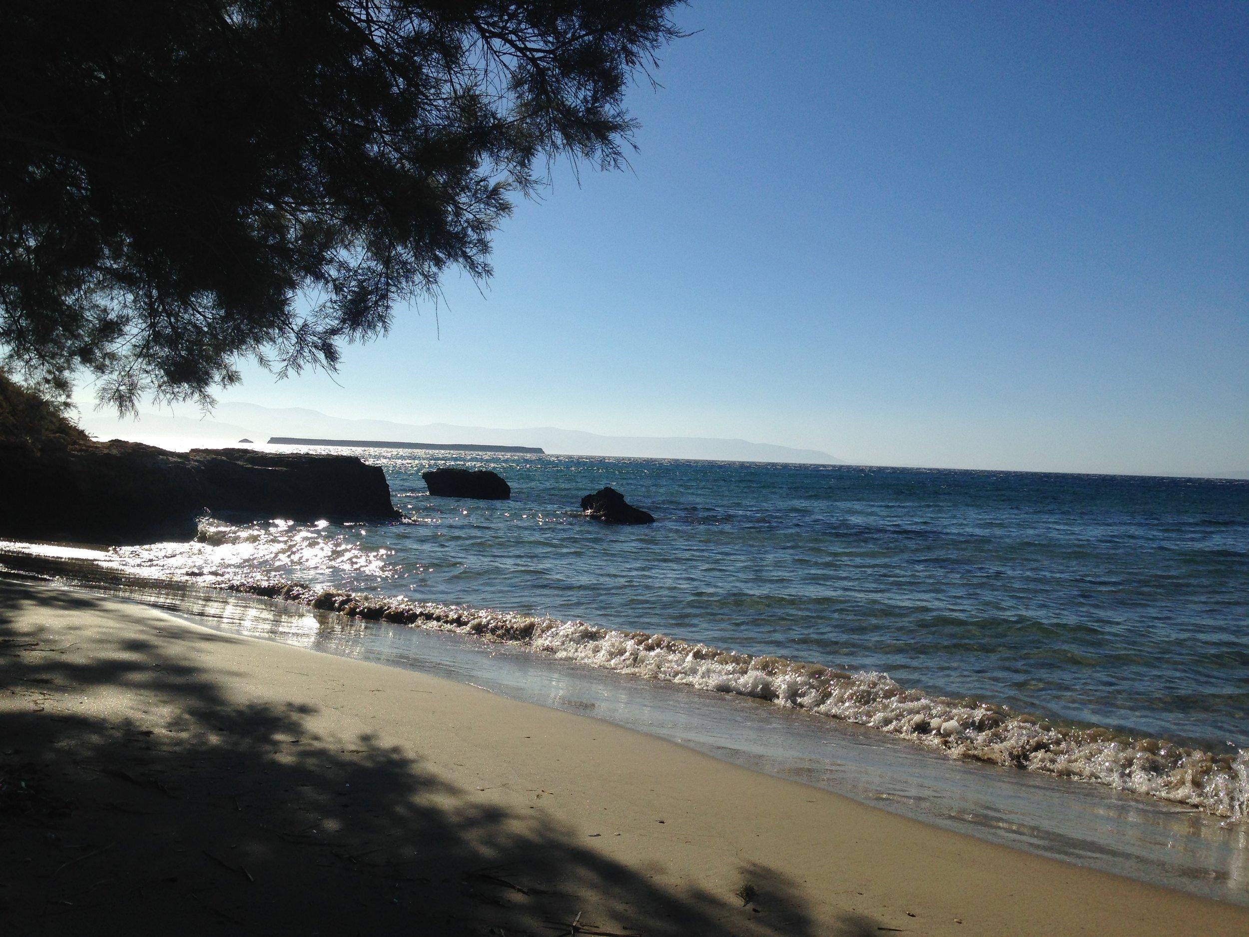 naked swim spot (in greece!)