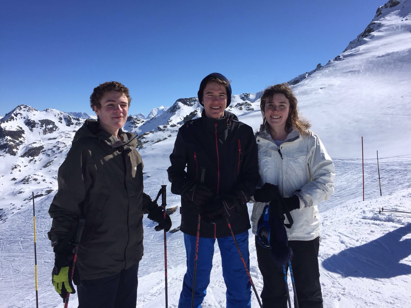 skiing two months after mum died ….all a bit weird without her (but of course still a happy moment together)