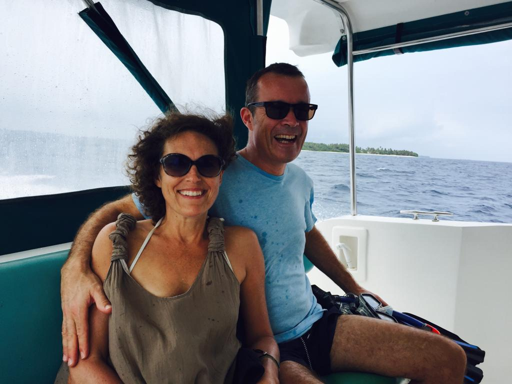 MUM AND DAD IN THE MALDIVES IN NOVEMBER 2016