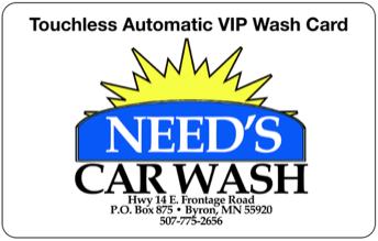 Need's Car Wash - 509 Frontage RoadByron, MN 55920507-775-2656