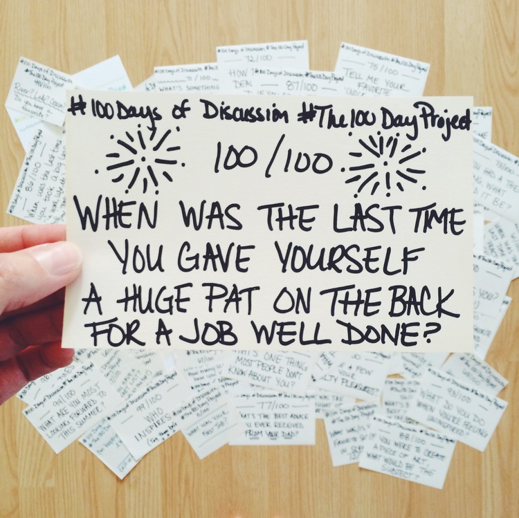 """Jennifer Snyder's Blog Post  """"100 Days of Discussion"""""""