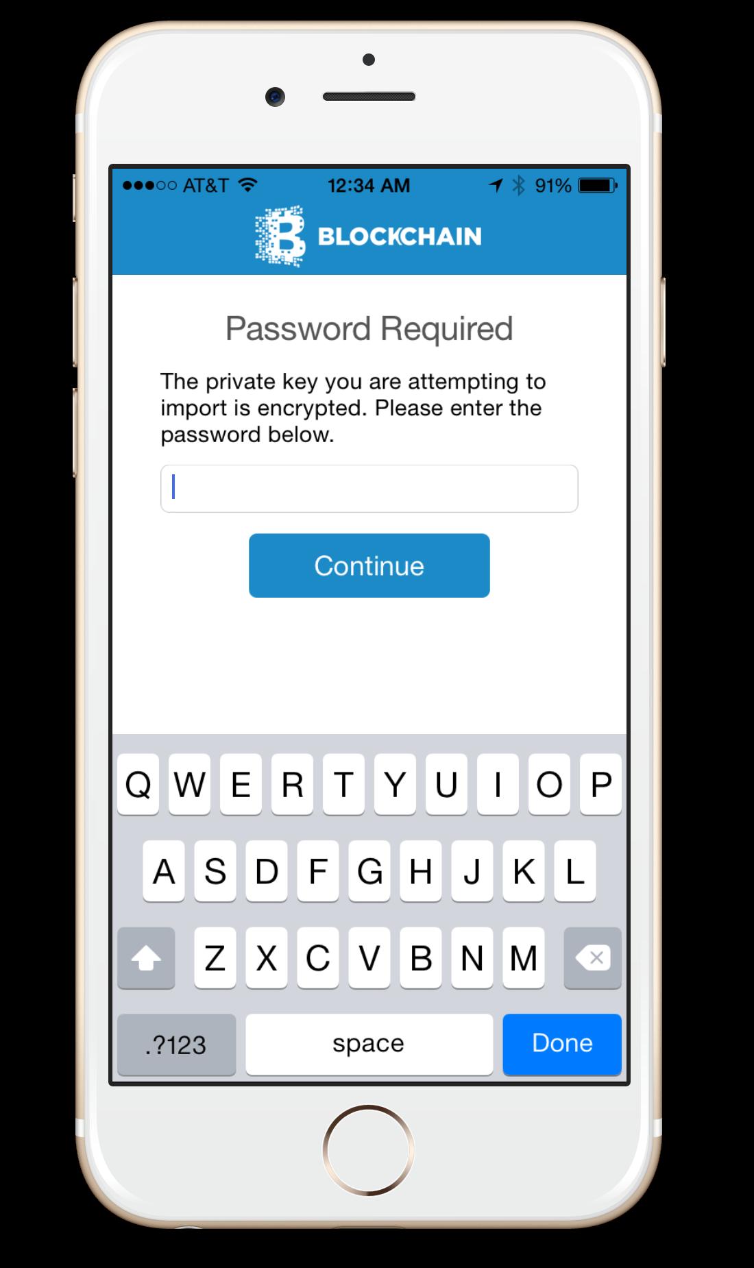 Step 4- Enterpassword.