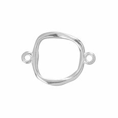 Amoracast Sterling Silver 12 x 17mm Organic Square Link