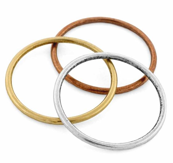Brass Large Hoop Open Frame by Nunn Design - 35mm (sterling silver, silver plated, gold plated, copper plated)  $3.47-$3.85