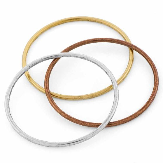 Brass Grande Hoop Open Frame by Nunn Design - 49mm (sterling silver, silver plated, gold plated, copper plated)  $3.56-$3.95