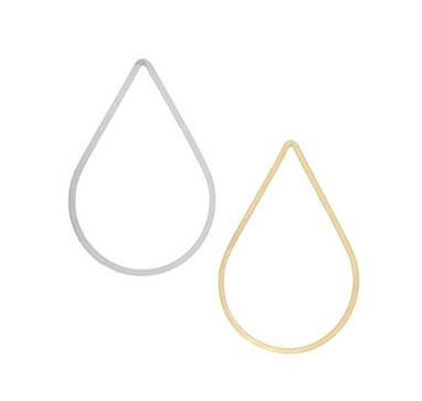 Precious Metal Flat Teardrop Wire Component (sterling silver, gold-filled, rose gold-filled)  $2.62-$5.28