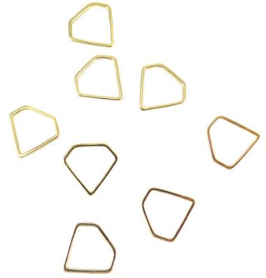 Gold Plated Small Diamond Shape Wire Charms (12x)  $4.25 for 12